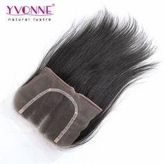 61.72$  Buy here - http://alihvp.worldwells.pw/go.php?t=1900205519 - 3 Part Closure Straight Brazilian Virgin Hair Closure,100% Human Hair Lace Closure 4x4,Aliexpress YVONNE Hair Products