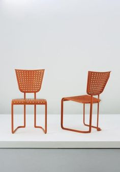 Jean Royère - perforated side chairs
