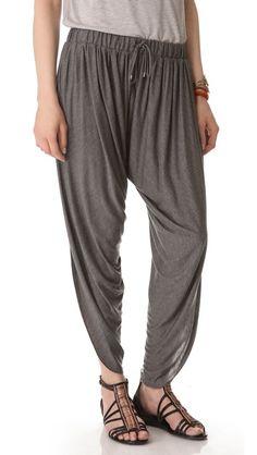 Haute Hippie Draped Jersey Harem Pants