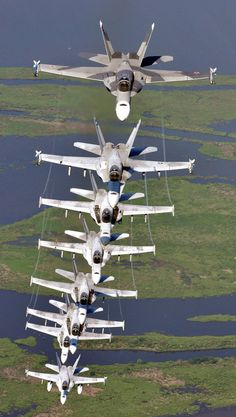 A Stack of F/A-18 Super Hornets
