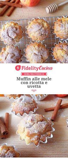 Muffin alle mele con ricotta e uvetta