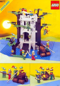 These handy Lego Castle instructions are here to help you with building your LEGO sets. LEGO are childrens toys and are great if you can pick them up in a toy sale! Best Lego Sets Ever, Lego Plan, Lego Castle Instructions, Bionicle Lego, Lego Vintage, Chateau Lego, Lego Burg, Big Lego, Lego Knights