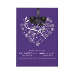 Breathless Wedding Invitation--plum by chocolattedesigns