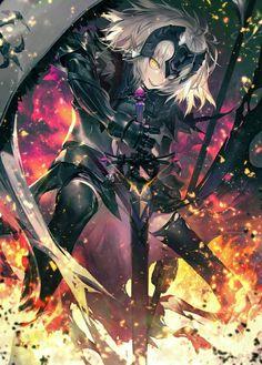 Fate Jeanne Alter art,so amazing - Fate Zero Anime Meme, Joan Of Arc Fate, Fate Jeanne Alter, Fate/stay Night, Fate Characters, Fate Servants, Fate Anime Series, Fate Zero, Best Waifu