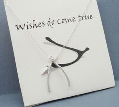 Silver Wishbone Necklace On A Sterling Silver by Kikiburrabeads, $18.50