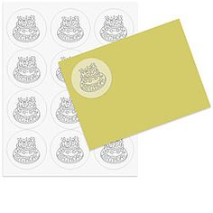 Vellum Labels: How cool are these?   Vellum 2.5 inch Round Printable Labels 5 sheets  The translucent quality of these vellum labels makes them especially elegant. With a soft almost frosted finish, they will allow a bit of your envelope color to come through. These circle labels work so well in your home printer and are a fun size for decorating cards, favor bags, jars, and more.    Our vellum labels work well in laser printers. If using an inkjet printer allow time for the ink to dry…