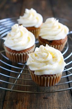 Carrot #cupcakes. #Carrot, #Eggs, #Yogurt, #pineapple, #flour, #recipesrifelife, #Carrotcupcakes