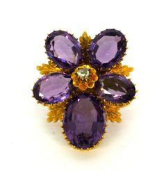 Victorian amethyst and diamond pansy brooch and pendant, Offered by Emmy Abe Pansies, Brooches, Amethyst, Great Gifts, Victorian, Diamond, Pendant, Brooch, Hang Tags