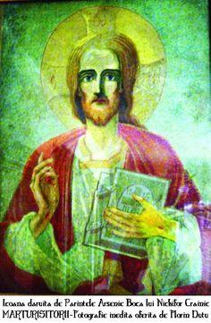 Icoana daruita de Arsenie Boca lui Nichifor Crainic - Foto Florin Dutu - Marturisitorii Ro Christ, Jesus Christ