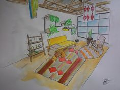 Living room with Bohemian Style by me :)