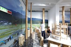 """The Japan Pavilion for the Venice Biennale (designed by Takamasa Yoshizaka in 1956) presented the exhibit """"Architecture. Possible here? Home-for-all"""", curated by Toyo Ito, with the participation of architectural photographer Naoya Hatakeyama, and architects Kumiko Inui, Sou Fujimoto and Akihisa Hirata."""