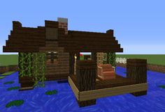 Small Fishing Hut - GrabCraft - Your number one source for MineCraft buildings, blueprints, tips, ideas, floorplans!