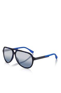 4ea2b4b60de Hugo Boss Mirror Lens Carbon Fiber Aviator Sunglasses