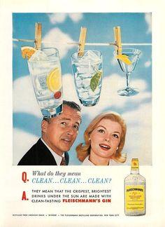 Fleischmann's #gin 1960