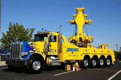 Johnson's Towing, Greenfield IN - Peterbilt 388 w/ B&B 60 ton rotator Big Rig Trucks, Dump Trucks, Tow Truck, Cool Trucks, Custom Big Rigs, Custom Trucks, Towing And Recovery, Tow Mater, Scania V8