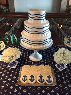 Celebrate In Detail's Wedding / - Photo Gallery at Catch My Party Nautical Party, Nautical Wedding, Wedding Photo Gallery, Wedding Photos, I Party, Wedding Reception, Cake, Desserts, Food