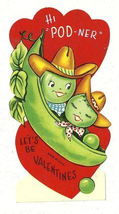 Vintage Valentine Card { Vintage Valentine Card / Heart / Retro Valentines / St Valentines Day / Love / Crush / offbeat / fun / unusual /  Valentine }