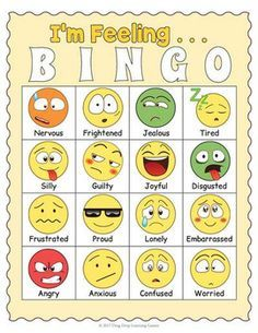 Identifying Feelings and Emotions Game - Emotions and Feelings BINGO Emotions Game, Emotions Preschool, Feelings Games, Emotions Activities, Fun Classroom Activities, Feelings And Emotions, Preschool Ideas, Emotion Words, Emotion Faces