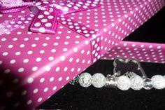 Bracelet rock crystal and Swarovski beads