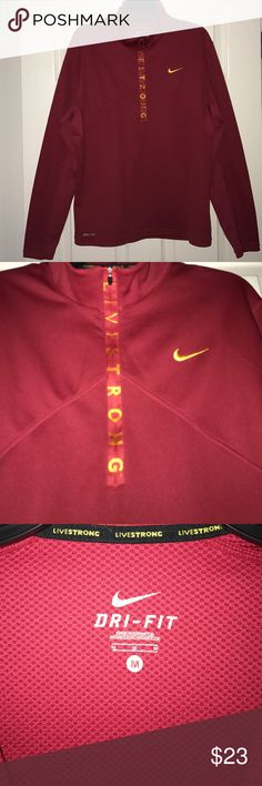 Nike DriFit LIVESTRONG Men's Pullover Medium GREAT condition and very warm Nike Shirts Sweatshirts & Hoodies