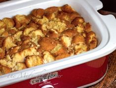Slow Cooker Donut Bread Pudding