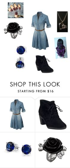 """""""School concert"""" by ptx1 ❤ liked on Polyvore featuring moda, LE3NO, Clarks i Bling Jewelry"""