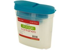 Pourable Food Storage Container Set, 1 - Keep cereal, pasta, grains and more fresh and easily dispensable with this 3-piece Pourable Food Storage Container Set featuring durable, transparent plastic containers in a variety of sizes with snap-close lids with openings for pouring. Set includes: one 32 fluid ounce container, one 64 fluid ounce container and one 5 quart container. Comes in assorted colors. BPA free. Dishwasher safe. Comes shrink wrapped.-Colors: transparent,green,blue. Material…