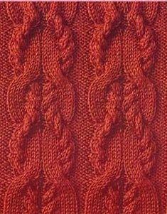 Tranças de tricô padrão