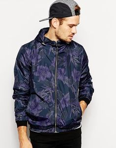 New Look Bomber Jacket with Floral Print