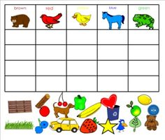 Students will sort the items by their color matching them to the color of the character in the story....