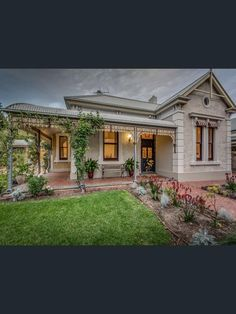49 Eton Street, Malvern, SA View property details and sold price of 49 Eton Street & other properties in Malvern, SA Cute Cottage, Old Cottage, Edwardian Architecture, Australian Architecture, Weatherboard House, Queenslander, Facade Design, House Design, Victoria House