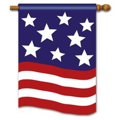 """America Applique 4th of July House Flag by Breeze Art. $15.99. Embroidered Flag. 28"""" x 40"""" Standard flag"""