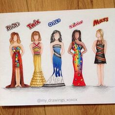 How creative are these dresses by @my_drawings_xoxo... . Follow also @arrtposts !