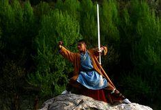 The Fighting Monks of Shaolin Temple: Shaolin Monk Wields Sword