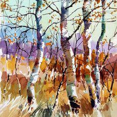 Por amor al arte: Carl Purcell Watercolor Trees, Watercolor Sketch, Watercolor Artists, Watercolor Landscape, Watercolor Paintings, Watercolours, Landscape Drawings, Landscape Art, Landscape Paintings