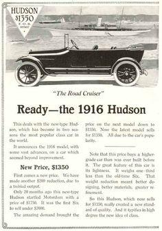1916 Hudson Ad
