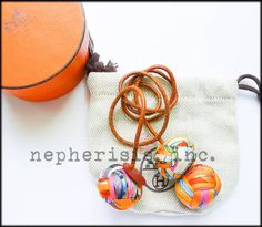 1,500.00$  Buy here - http://viqeh.justgood.pw/vig/item.php?t=my702p54870 - RARE Hermes Silk Pompom Pom Pom Bag Charm with box & dust bag MULTICOLOR ORANGE 1,500.00$