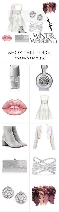 """""""Winter Guest"""" by sparklingpearl619 ❤ liked on Polyvore featuring Christian Dior, Boadicea the Victorious, Lime Crime, Lattori, Gianvito Rossi, Chanel, Jimmy Choo, Effy Jewelry, Fallon and winterwedding"""