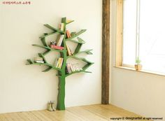 Houten boekenkast boom