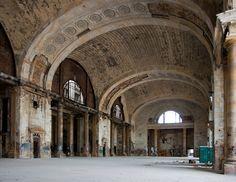 La estación central de Michigan abandonada. La sala de espera.