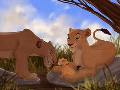 Collab with PiperInle! This was so much fun, it was nice to do some canon TLK fanart for once haha I rarely do that. Sarabi, Sarafina and Nala all havin. Why hello there, little one! Lion King 3, Lion King Fan Art, Lion King Movie, Disney Lion King, King Art, All Disney Movies, Disney And More, Disney Love, The Lion King Characters