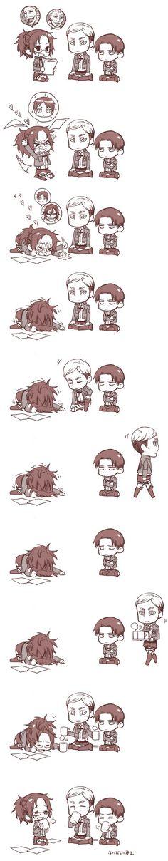 i don`t know who Hanji, Irvin, and Levi are but that was histeracall!!!!!!!!!!!!!!!!!!!!!!!!!!!!ahhahahahahahhaahahahahahaha