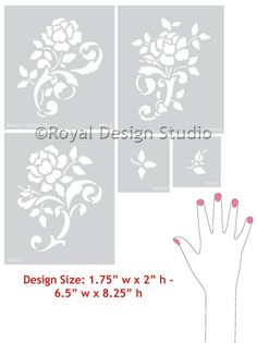 Detailed Butterfly Allover Wall Stencil | Royal Design Studio