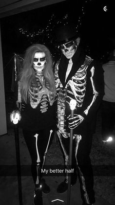 his-hers-skeleton | 15+ Super Fun Halloween Costumes for Girls