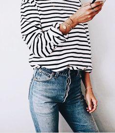 stripes + denim