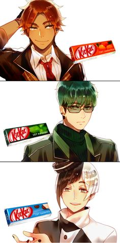 Mr. KitKat Series(2) by Cioccolatodorima on DeviantArt Orange, Mint and Cookies and Cream
