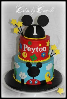 Mickey Mouse Clubhouse - Mickey Mouse Clubhouse cake, inspired by the many versions of this cake found here on CC.