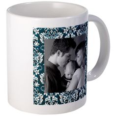 #Custom #Photo Damask Frame #Mug  Customize this with your favorite photo, makes a wonderful gift with this beautiful damask pattern  $13.19