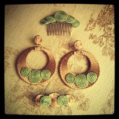 www.facebook.com/pretahabiller   Complementos hand made Projects To Try, Drop Earrings, Instagram, Flowers, Andalucia, Outlet, Diy, Jewelry, Facebook