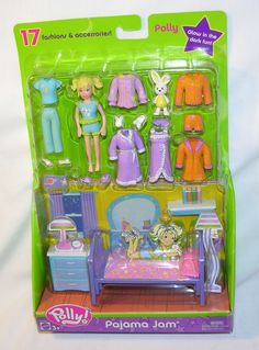 New!+Polly+Pocket+Pajama+Jam+Fashion+Pack+Polly+17+FASHIONS+&+ACCESSORIES+#B7092+